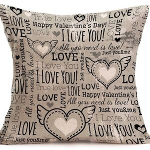 Accents - Pillow Cover- New - I Love You Heart